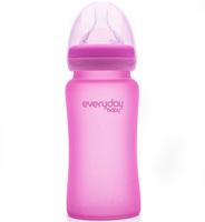 EveryDay Baby Бутылочка с индикатором температуры из стекла, 240 мл